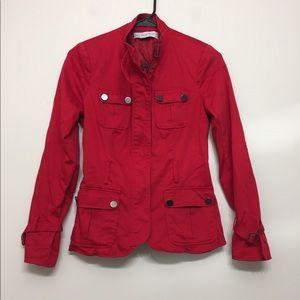 3/$30 Zara Basics Red Zip Jacket Sz XS